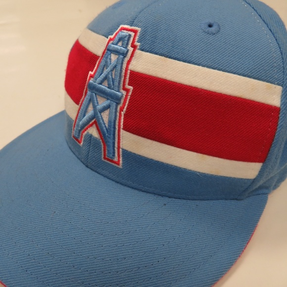 df3823afb Houston Oilers NFL Mitchell & Ness Fitted Cap Hat